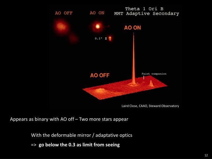 Laird Close, CAAO, Steward Observatory
