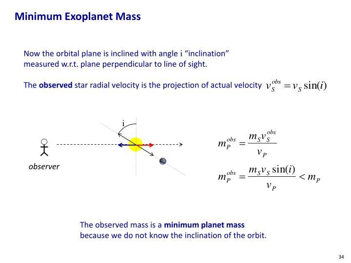Minimum Exoplanet Mass