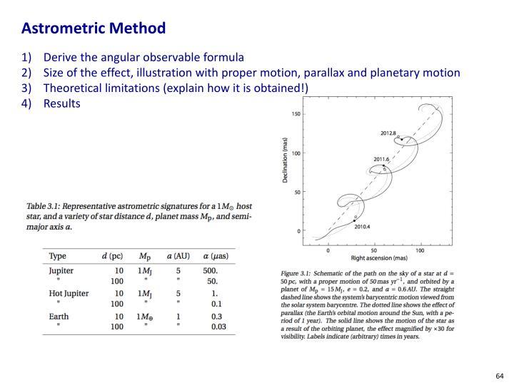 Astrometric Method