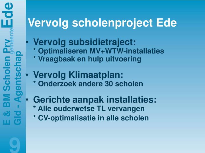 Vervolg scholenproject Ede