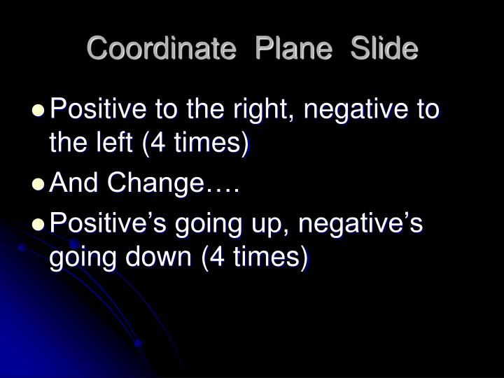 Coordinate  Plane  Slide