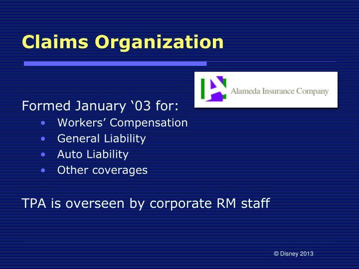 Claims Organization