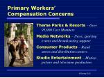 primary workers compensation concerns