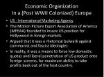 economic organization in a post wwii colonized europe