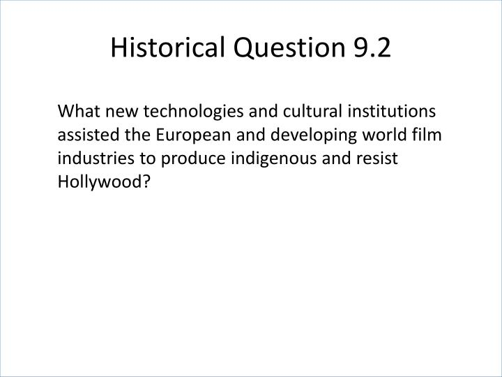 Historical Question 9.2