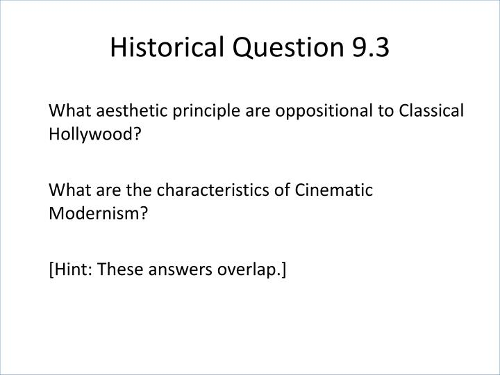 Historical Question 9.3