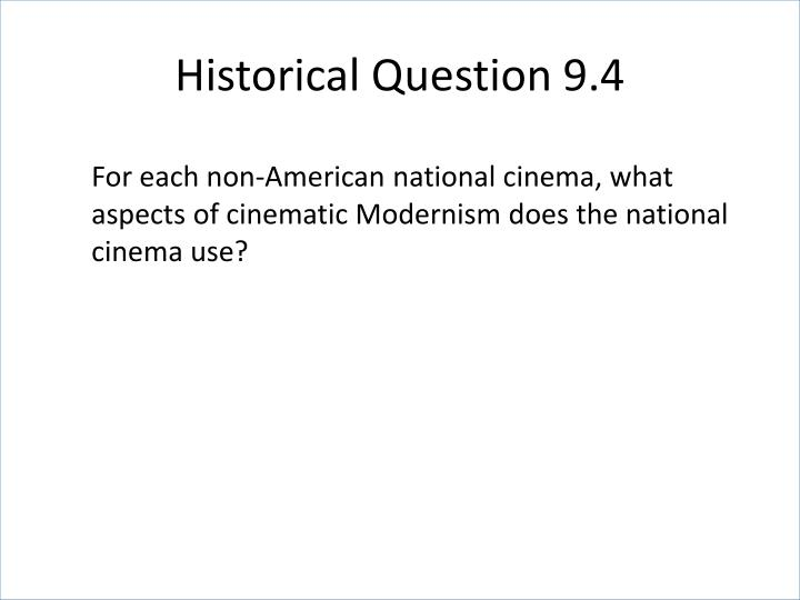 Historical Question 9.4