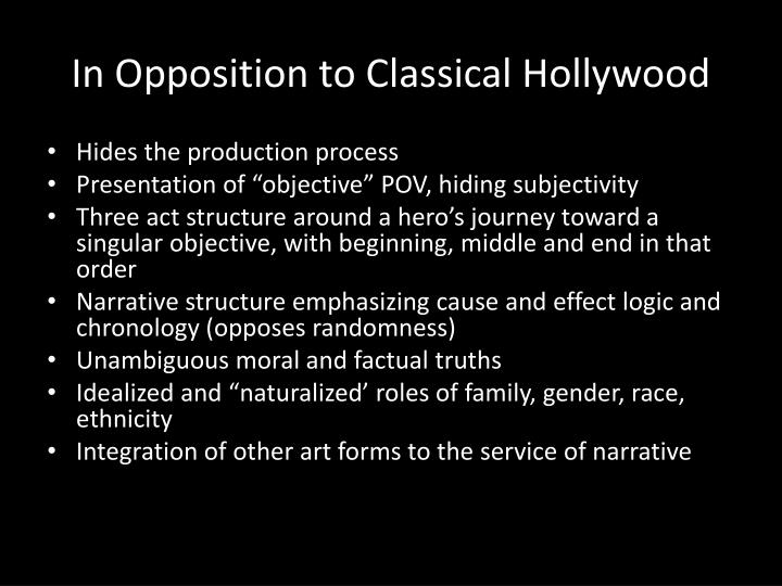 In Opposition to Classical Hollywood