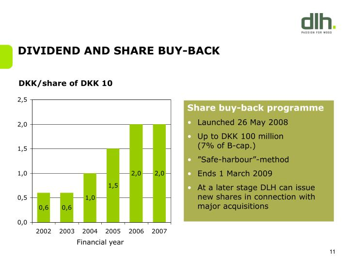 DIVIDEND AND SHARE BUY-BACK