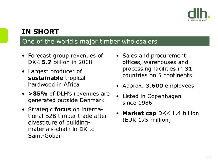 Forecast group revenues of DKK