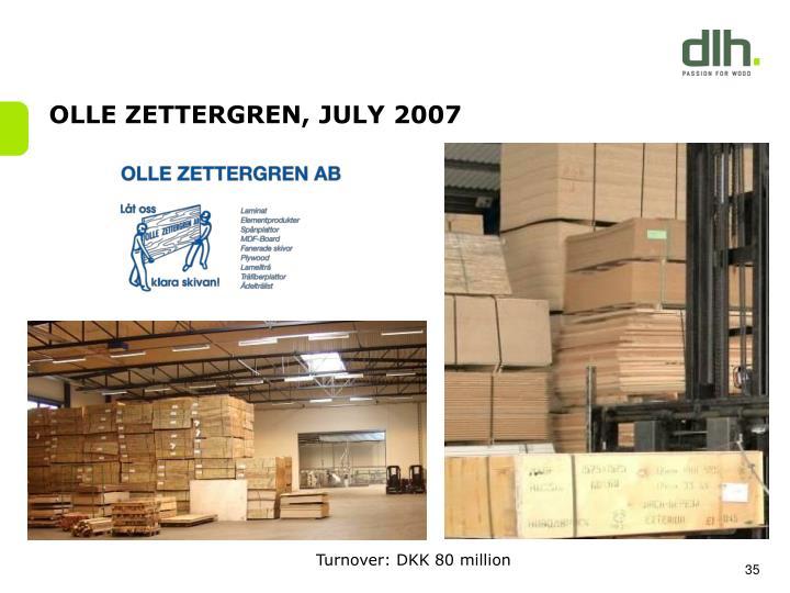 OLLE ZETTERGREN, JULY 2007