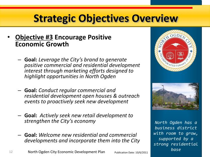 Strategic Objectives Overview