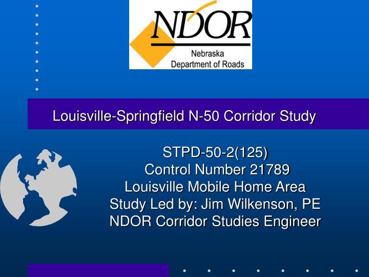 Louisville-Springfield N-50 Corridor Study