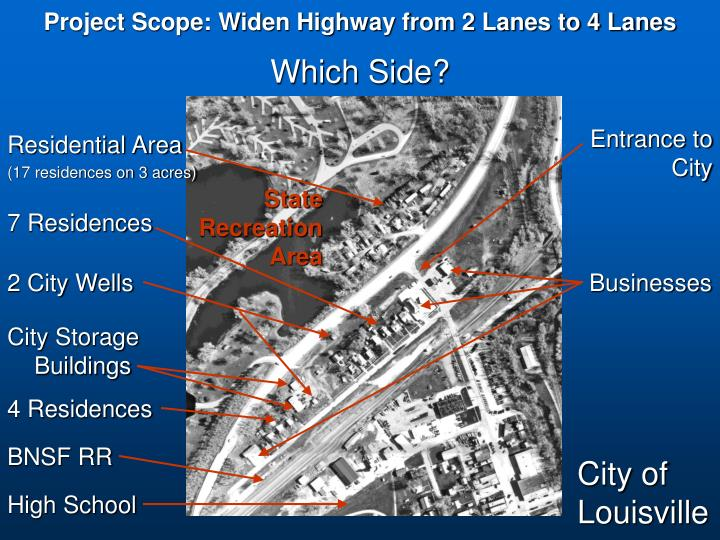 Project Scope: Widen Highway from 2 Lanes to 4 Lanes