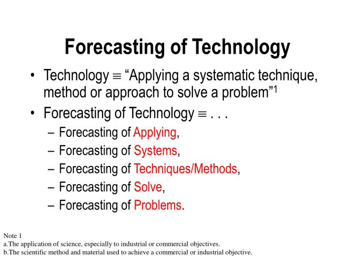 Forecasting of Technology