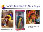 bodily adornment neck rings