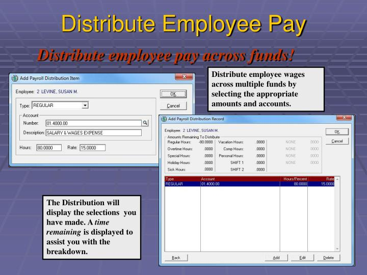 Distribute Employee Pay