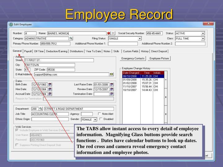 Employee Record
