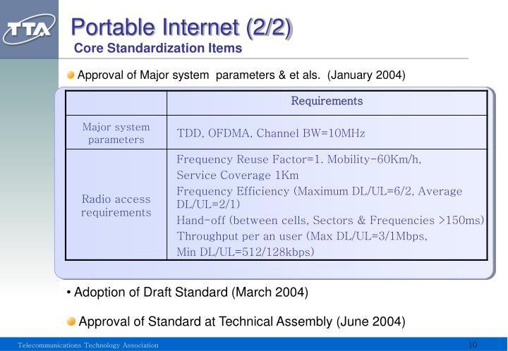 Portable Internet (2/2)