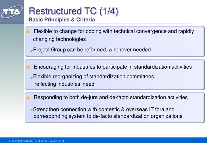 Restructured TC (1/4)