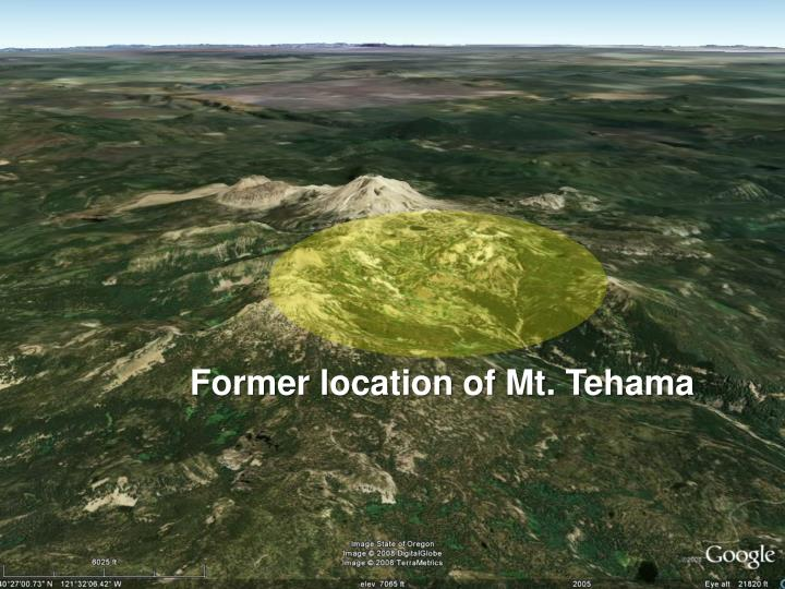 Former location of Mt. Tehama
