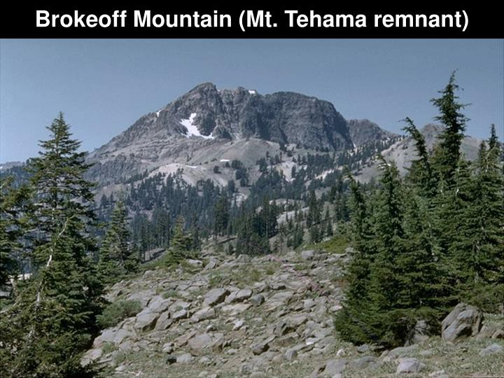 Brokeoff Mountain (Mt. Tehama remnant)