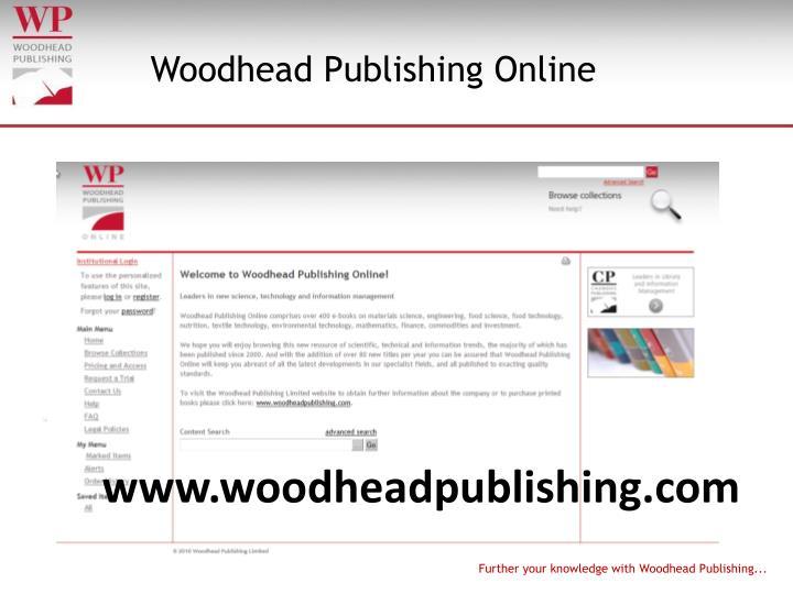Woodhead Publishing Online