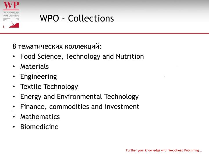WPO - Collections