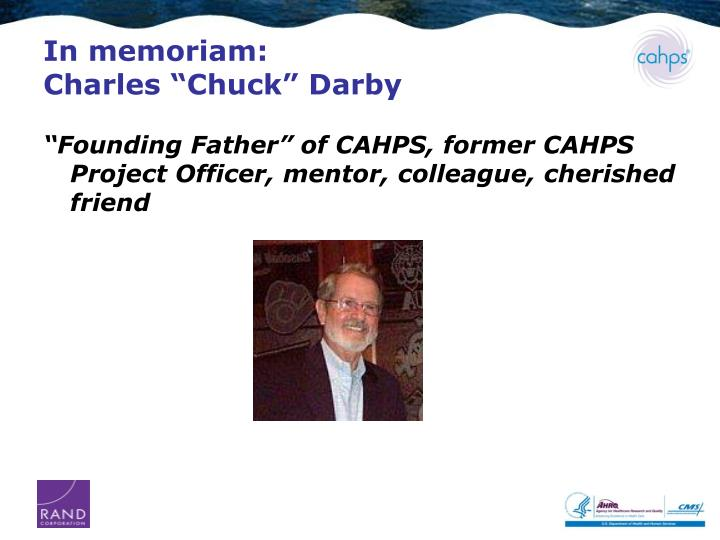 In memoriam charles chuck darby