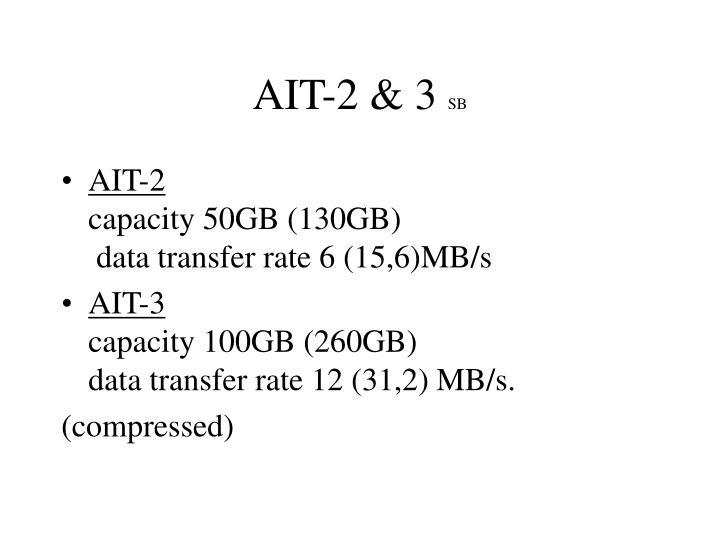 AIT-2 & 3