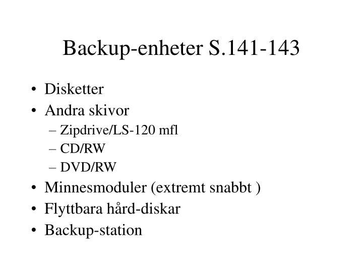Backup-enheter