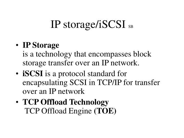 IP storage/iSCSI