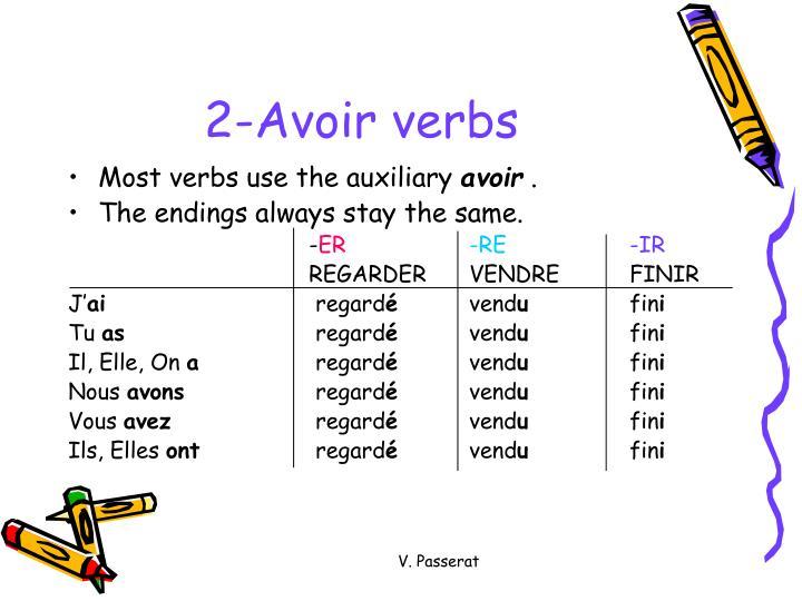 2-Avoir verbs