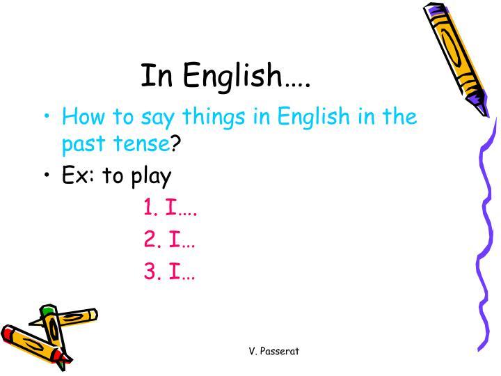 In English….