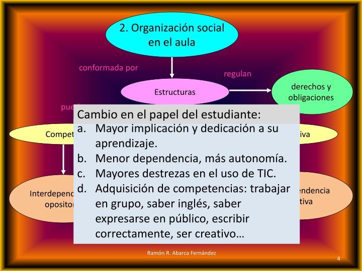2. Organización social