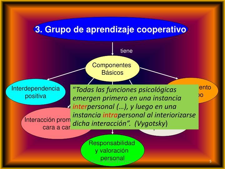3. Grupo de aprendizaje cooperativo