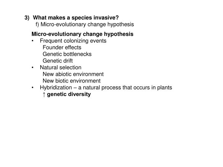 What makes a species invasive?