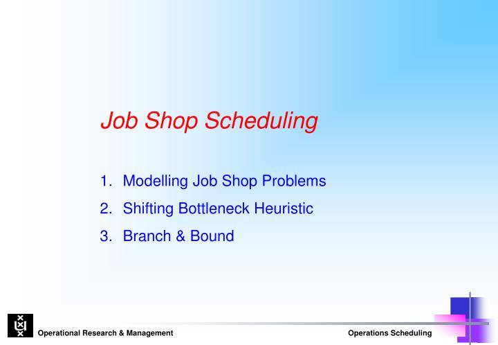 flow shop scheduling thesis