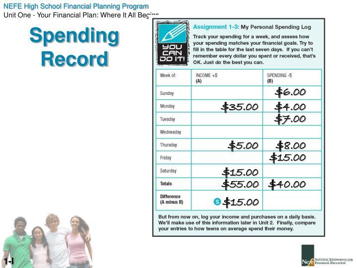 Spending Record