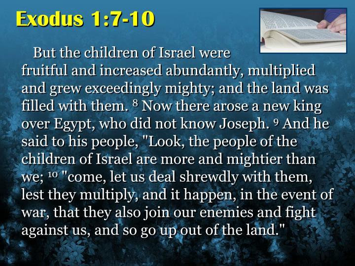 Exodus 1:7-10