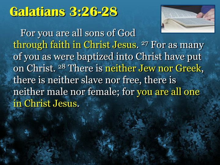 Galatians 3:26-28