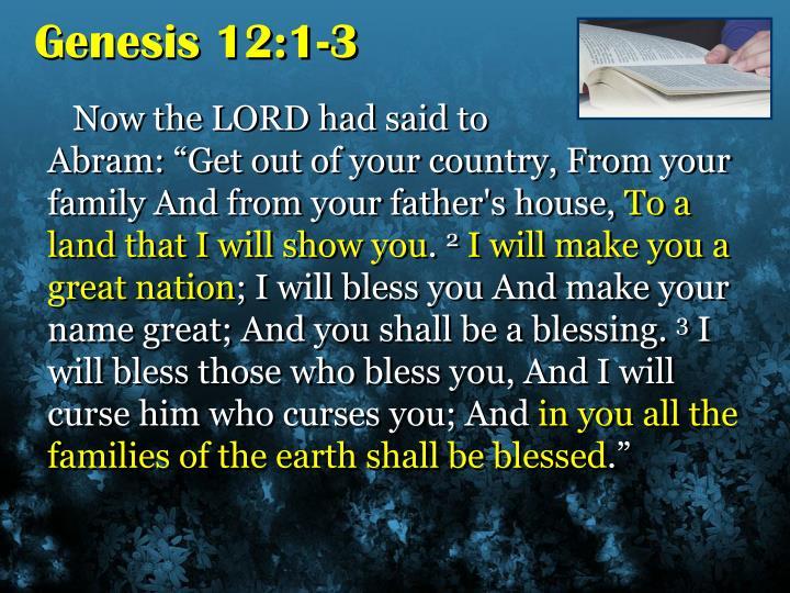 Genesis 12:1-3