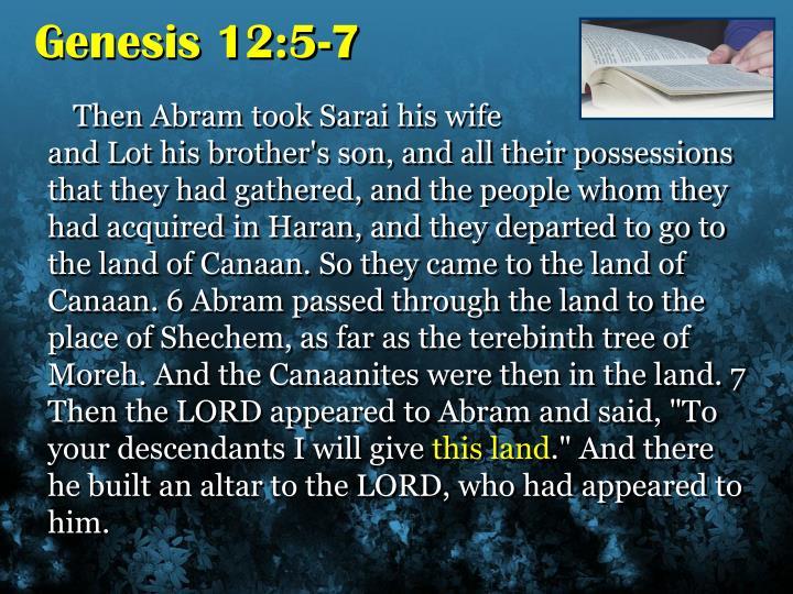 Genesis 12:5-7