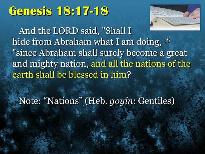 Genesis 18:17-18