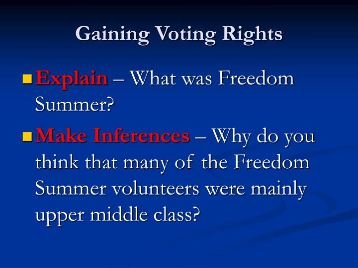 Gaining Voting Rights