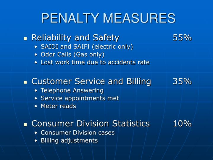 PENALTY MEASURES