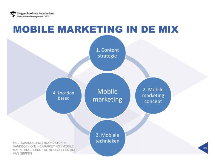 Mobile marketing in de mix