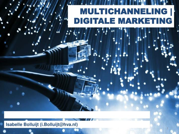 Multichanneling digitale marketing