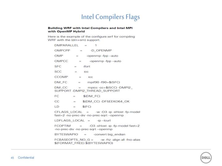 Intel Compilers Flags