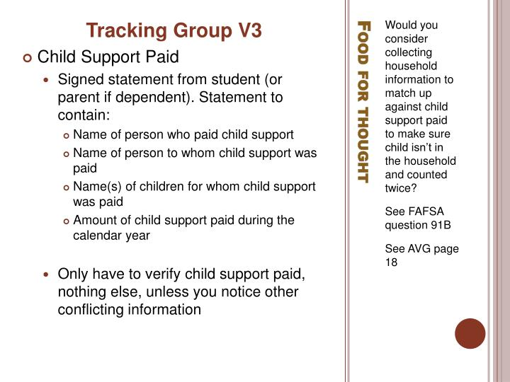 Tracking Group V3